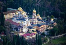 Novo-Athoskloster in Abchasien im Winter stockbild