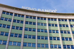 Novo Banco Bank located in the Marques de Pombal Square. Stock Photos