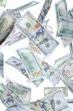 Novo cem dólares de gota Foto de Stock