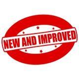 Novo e melhorado Fotografia de Stock