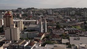 Novo Hamburgo train station. The view of the city of Novo Hamburgo, here we can see the train station and other importan buildings of the city stock footage
