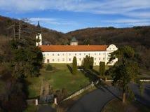 Novo Hopovo monaster blisko Irig, Serbia obraz stock
