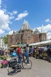 Novo mercado em Amsterdão, Países Baixos Foto de Stock Royalty Free