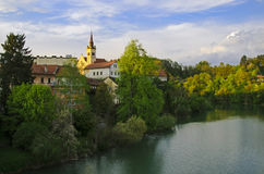 Novo Mesto. Is the city on a bend of the Krka River in the City Municipality of  in southeastern Slovenia Stock Images