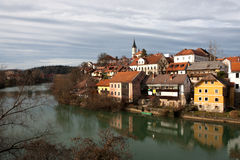 Novo Mesto  on Krka River - Slovenia Stock Photos