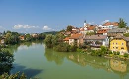 Novo mesto miasto, Slovenia Obrazy Royalty Free