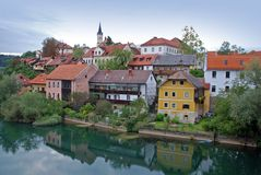 Novo Mesto riverside- Sloveni Stock Photo