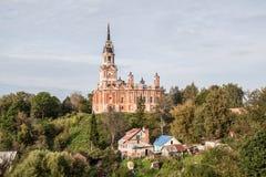 Novo-Nikolsky Cathedral. Mozhajskij Kremlin. Mozhaysk, Russia. Church on the hill Stock Image