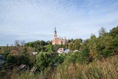 Novo-Nikolsky Cathedral. Mozhajskij Kremlin. Mozhaysk, Russia. Church on the hill Stock Photo