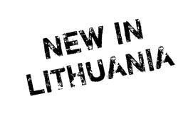 Novo no carimbo de borracha de Lituânia Fotografia de Stock Royalty Free