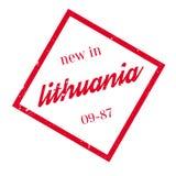 Novo no carimbo de borracha de Lituânia Imagens de Stock Royalty Free