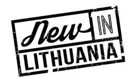 Novo no carimbo de borracha de Lituânia Imagem de Stock Royalty Free