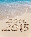 2015 novo A onda lava fora uma inscrição 2014 Foto de Stock Royalty Free