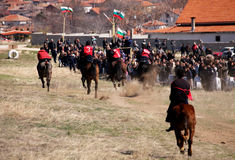 Jogos aciganados da equitação Imagens de Stock Royalty Free
