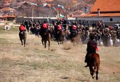 Het paardrijdenspelen van de zigeuner Royalty-vrije Stock Afbeeldingen