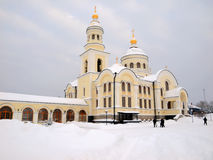 Novo-Tikhvin Fraukloster. Lizenzfreies Stockbild