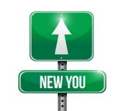 Novo você projeto da ilustração do sinal de estrada Fotos de Stock Royalty Free