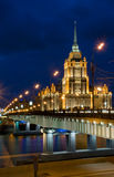 Novoarbatskiy bridge & hotel Ukraine Stock Image