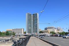 Moscow, Russia - May 25, 2018: Novoarbatsky Bridge royalty free stock images