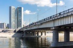 Novoarbatsky bridge in Moscow Stock Image