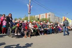 Novocheboksarsk, Rússia - 9 de maio de 2016: Celebração de Victory Da Imagens de Stock