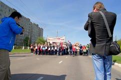Novocheboksarsk, Rusia - 9 de mayo de 2016: Celebración de Victory Da Fotografía de archivo