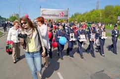 Novocheboksarsk, Rusia - 9 de mayo de 2016: Celebración de Victory Da Imágenes de archivo libres de regalías