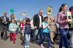 Novocheboksarsk, Rusia - 9 de mayo de 2016: Celebración de Victory Da Fotos de archivo libres de regalías