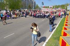 Novocheboksarsk, Rusia - 9 de mayo de 2016: Celebración de Victory Da Imagen de archivo libre de regalías