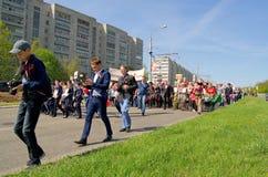 Novocheboksarsk, Rusia - 9 de mayo de 2016: Celebración de Victory Da Imagenes de archivo
