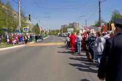 Novocheboksarsk, Rusia - 9 de mayo de 2016: Celebración de Victory Da Foto de archivo
