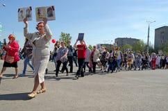 Novocheboksarsk, Rusia - 9 de mayo de 2016: Celebración de Victory Da Foto de archivo libre de regalías