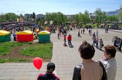 Novocheboksarsk, Russland - 9. Mai 2016: Feier von Victory Da Lizenzfreie Stockbilder