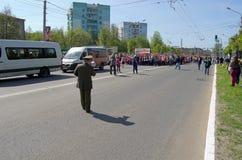 Novocheboksarsk Ryssland - Maj 9, 2016: Beröm av Victory Da Arkivfoton