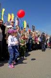 Novocheboksarsk Ryssland - Maj 9, 2016: Beröm av Victory Da Arkivfoto