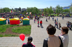 Novocheboksarsk Ryssland - Maj 9, 2016: Beröm av Victory Da Royaltyfria Bilder