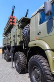 NOVOCHERKASSK, RUSLAND, 26 AUGUSTUS 2017: Russische moderne antivliegtuigen, grond-lucht complexe ` pantsir-S1 ` Royalty-vrije Stock Foto