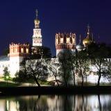 Novodevichiy修道院,莫斯科,俄国。 库存图片