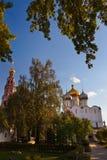 Novodevichiy女修道院在莫斯科俄国 库存照片