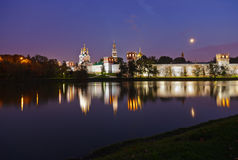 Novodevichiy女修道院在莫斯科俄国 免版税库存图片