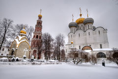 novodevichiy结构上合奏的修道院 库存照片