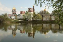 Novodevichiy Convent in Moscow Stock Photos