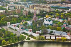Novodevichiy convent in Moscow, Russia stock photo
