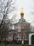 Novodevichiy convent in Moscow, Russia UNESCO world heritage site royalty free stock photo