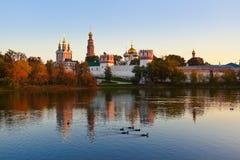 Novodevichiy kloster i Moscow Ryssland Arkivfoto