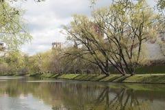 Novodevichiy monastery landscape Royalty Free Stock Image
