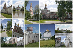 Novodevichiy monastery, Moscow. Collage Royalty Free Stock Images