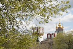 Novodevichiy monastery towers and chirch Stock Photo