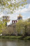 Novodevichiy monastery towers and chirch Stock Photos