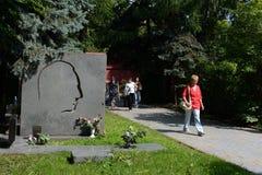 Novodevichy公墓是其中一个最著名的掩埋处在莫斯科 免版税库存照片